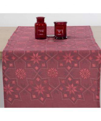 Χριστουγεννιάτικη Τραβέρσα CHRISTMAS SPIRIT της NEF-NEF (45x140) RED
