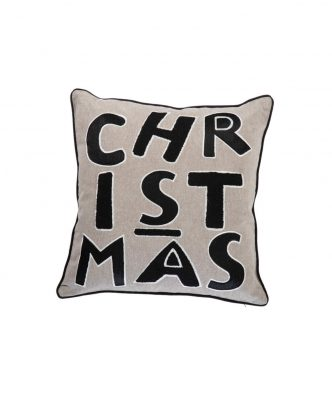 Χριστουγεννιάτικο Διακοσμητικό Μαξιλάρι CHRISTMAS της NEF-NEF (45x45) L.GREY