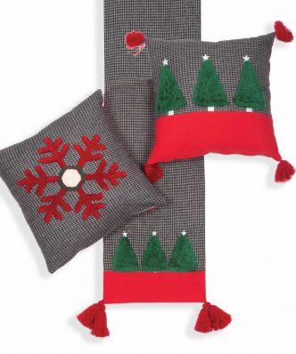 Χριστουγεννιάτικη Τραβέρσα CHRISTMAS TREES της NEF-NEF (33x150) D.GREY