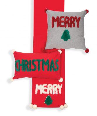 Χριστουγεννιάτικο Διακοσμητικό Μαξιλάρι MERRY CHRISTMAS 20 της NEF-NEF (45x45) L.GREY