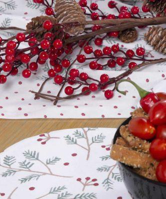 Χριστουγεννιάτικο Σουπλά SMOOTH CHRISTMAS της NEF-NEF (45x40) RED/WHITE