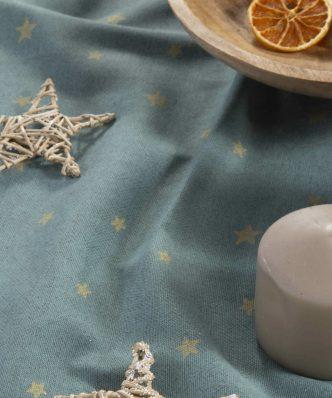 Χριστουγεννιάτικο Τραπεζομάντηλο HOLLY GREEN της NEF-NEF - GREEN