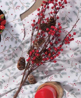 Χριστουγεννιάτικο Τραπεζομάντηλο SMOOTH CHRISTMAS της NEF-NEF (140x140) IVORY