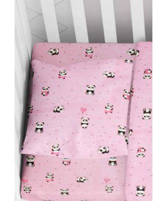 Βρεφική Μαξιλαροθήκη PANDA 111 της DIMcol (35x45) Pink