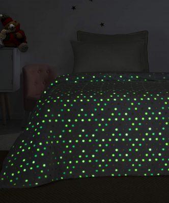Παιδική Κουβέρτα Fleece Ημίδιπλη Luminous BUBBLE της Palamaiki (160x220) - Φωσφορίζει στο σκοτάδι!