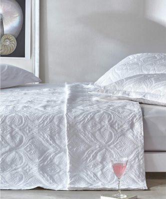 Serenity NATALIE 00 Ανοιξιάτικη Κουβέρτα Υπέρδιπλη της ΚΕΝΤΙΑ (230x260) WHITE