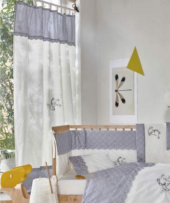 Serenity DUMBO Έτοιμη Παιδική Κουρτίνα με τιράντες της ΚΕΝΤΙΑ (140x270) BEIGE-GREY