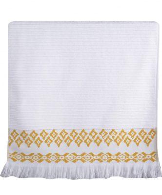 Πετσέτα ARABI της NEF-NEF - WHITE/YELLOW