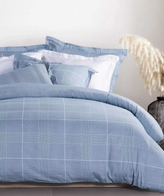 Σετ Βαμβακοσατέν Σεντόνια Υπέρδιπλα Premium ARTHUR της NEF-NEF (240x270) BLUE