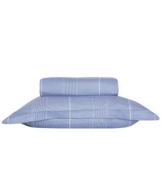 Σετ Βαμβακοσατέν Παπλωματοθήκη Υπέρδιπλη Premium ARTHUR της NEF-NEF (240x230) BLUE
