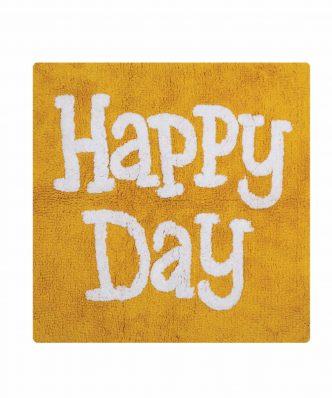 Χαλάκι Μπάνιου HAPPY DAY της NEF-NEF (80x80) YELLOW
