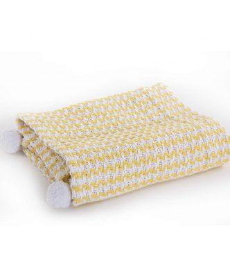 Βρεφική Καλοκαιρινή Κουβέρτα SOMETIME της NEF-NEF - YELLOW