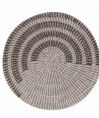 Διακοσμητικό Πιάτο Τοίχου SEAGRASS GARNET της NEF-NEF (Δ:46cm x9) BLACK/WHITE