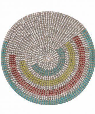 Διακοσμητικό Πιάτο Τοίχου SEAGRASS GARNET της NEF-NEF (Δ:46cm x9) CORAL/GREEN