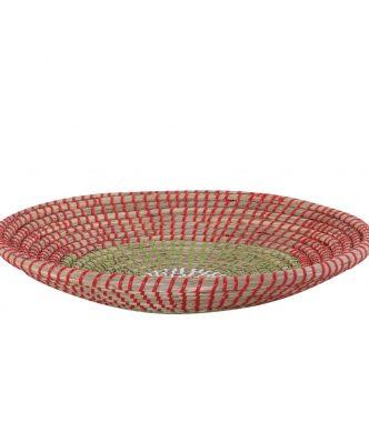 Διακοσμητικό Πιάτο Τοίχου SEAGRASS INDRA της NEF-NEF (Δ:36cm x7) CORAL/GREEN