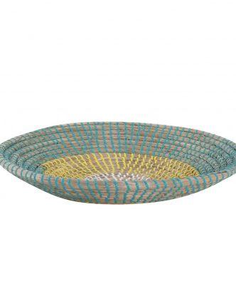 Διακοσμητικό Πιάτο Τοίχου SEAGRASS INDRA της NEF-NEF (Δ:36cm x7) YELLOW/AQUA