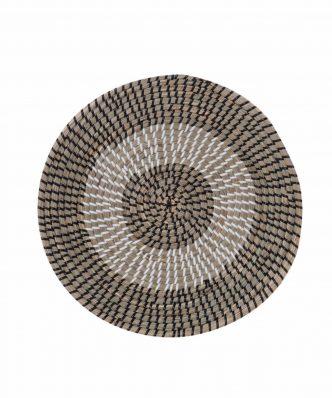 Διακοσμητικό Πιάτο Τοίχου SEAGRASS INDRA της NEF-NEF (Δ:36cm x7) BLACK/WHITE