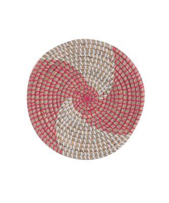 Διακοσμητικό Πιάτο Τοίχου SEAGRASS NOBLE της NEF-NEF (Δ:28cm x6) CORAL/WHITE