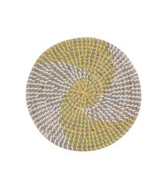 Διακοσμητικό Πιάτο Τοίχου SEAGRASS NOBLE της NEF-NEF (Δ:28cm x6) YELLOW/WHITE