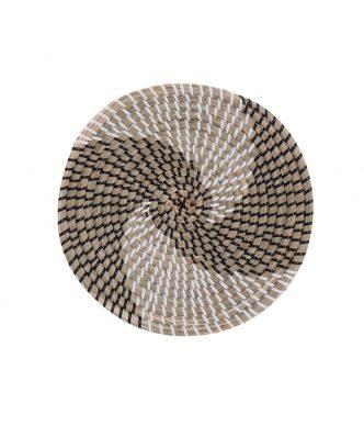 Διακοσμητικό Πιάτο Τοίχου SEAGRASS NOBLE της NEF-NEF (Δ:28cm x6) BLACK/WHITE