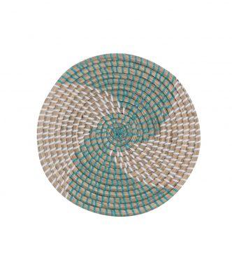 Διακοσμητικό Πιάτο Τοίχου SEAGRASS NOBLE της NEF-NEF (Δ:28cm x6) AQUA/WHITE