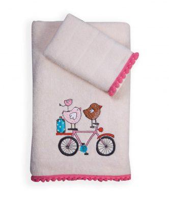 Σετ (2τμχ) Παιδικές Πετσέτες Μπάνιου HAPPY CITY της NEF-NEF - ECRU