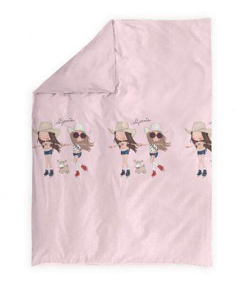Παιδικό Κουβερλί Μονό CALIFORNIA GIRLS της NEF-NEF (180x220) PINK