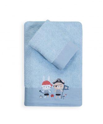 Σετ (2τμχ) Βρεφικές Πετσέτες Μπάνιου ALL ABOARD της NEF-NEF - BLUE
