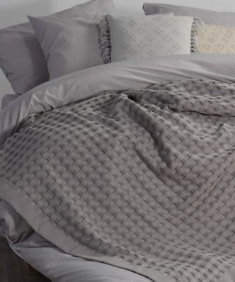 Κουβέρτα Πικέ ORGANIC της NEF-NEF - GREY