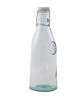 Γυάλινο Μπουκάλι Νερού με πλαστικό καπάκι AUTHENTIC της NEF-NEF - NATURAL (1L)