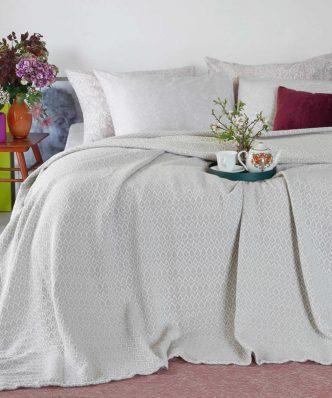 Καλοκαιρινή Κουβέρτα Πλεκτή MASSIMO της MELINEN - GREY
