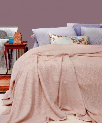 Καλοκαιρινή Κουβέρτα Πλεκτή MASSIMO της MELINEN - PINK