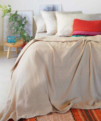 Καλοκαιρινή Κουβέρτα Πλεκτή ALBA της MELINEN - BEIGE
