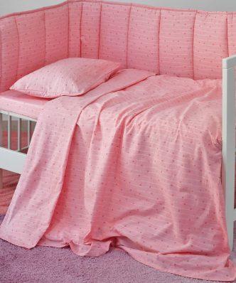 Βρεφική Μαξιλαροθήκη (1τμχ) Baby Line ESTRELLA GIRL της MELINEN (35x45)