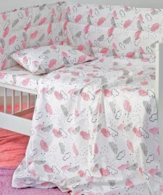 Βρεφική Μαξιλαροθήκη (1τμχ) Baby Line CLOUD GIRL της MELINEN (35x45)