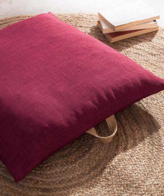 Διακοσμητική Μαξιλαροθήκη Chrome 930A/02 της GOFIS HOME (65x65) Red Leather