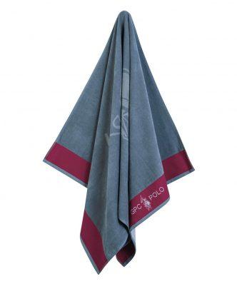 Πετσέτα Θαλάσσης Essential 3541 της POLO CLUB (90x170) ΓΚΡΙ