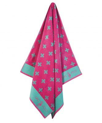 Πετσέτα Θαλάσσης Essential 3552 της POLO CLUB (90x170) ΠΕΤΡΟΛ-ΡΟΖ