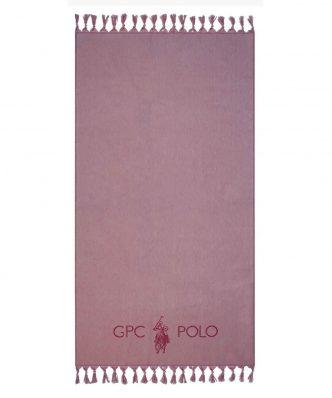 Πετσέτα-Παρεό Θαλάσσης Essential 3576 της POLO CLUB (90x170) NUDE