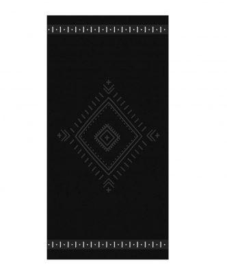 Πετσέτα Θαλάσσης βελουτέ INTERIOR της NEF-NEF (80x160) BLACK