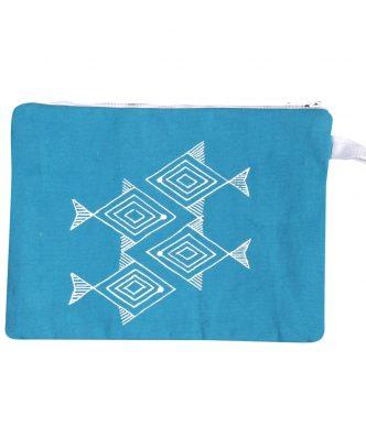 Νεσεσέρ παραλίας FISHES WAY της NEF-NEF (35x25) BLUE