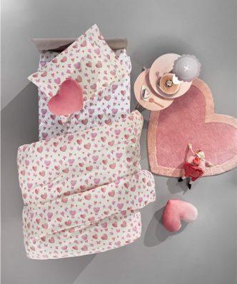 Σετ Παιδική Παπλωματοθήκη Μονή SWEET HEART της Guy Laroche (165x225)