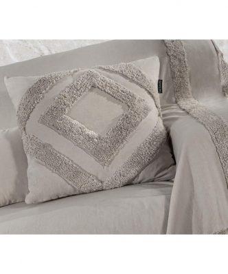 Διακοσμητική μαξιλαροθήκη HIDI της Guy Laroche (45x45) NATURAL