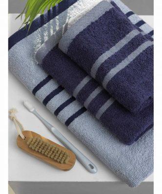 Σετ Πετσέτες Μπάνιου (3τμχ) Towels Collection CONTRAST της Palamaiki - BLUE