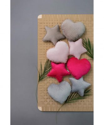 Διακοσμητικό Μαξιλάρι Καρδιά με pom pom ELWIN της Palamaiki (40x38) ROSE