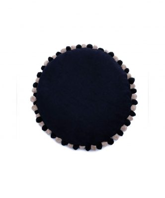 Πουφ με Αποσπώμενο Κάλυμμα SPREE της Palamaiki (Δ: 60 cm) BLACK