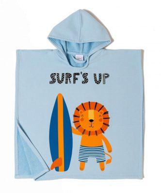 Παιδικό Πόντσο SURF της MELINEN (60x60) - LIGHT BLUE