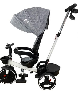 Παιδικό Αναδιπλώμενο Τρίκυκλο Ποδήλατο A-TRIKE-X ΓΚΡΙ της ΑΒΟ