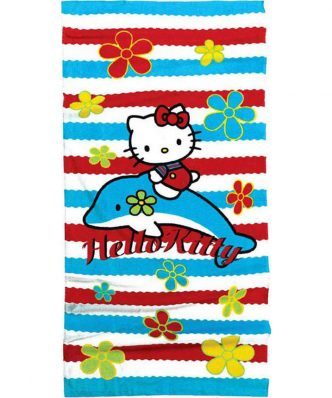 Παιδική Πετσέτα Θαλάσσης HELLO KITTY 19 της NIMA HOME (75x150)