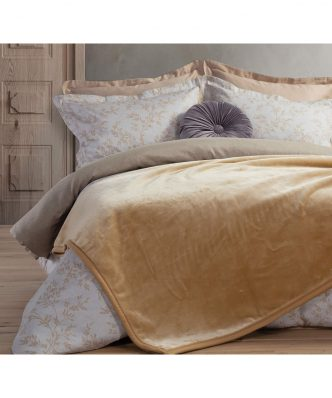 Βελουτέ Κουβέρτα Υπέρδιπλη Premium WARM της NEF-NEF (230x240) GOLD
